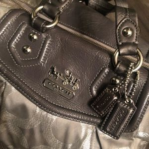 Coach Silver Satchel Perfect for the Holidays